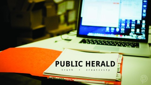 Public Herald collects files at DEP's office to submit to the #fileroom.
